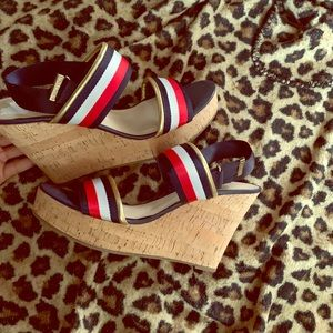 BRAND NEW! Tommy Hilfiger Strapped Wedges Sz 11M